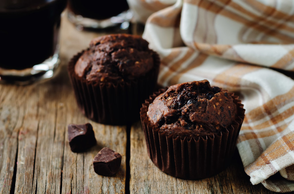 Chocolate chips oats chocolate muffins